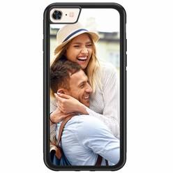 iPhone 8/7 rubber zwart - Hardcase met jouw foto