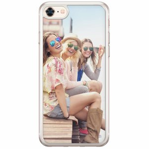 iPhone 8/7 siliconen transparant - Softcase met jouw foto