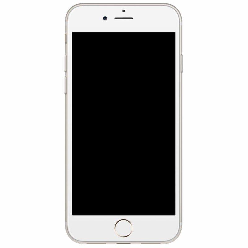 Casimoda iPhone 8/7 siliconen hoesje naam - Marmer blauw goud
