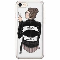 Casimoda iPhone 8/7 siliconen hoesje naam - Badass babe brunette