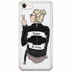 Casimoda iPhone 8/7 siliconen hoesje naam - Badass babe blondine