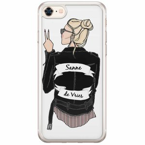 iPhone 8/7 siliconen hoesje naam - Badass babe blondine