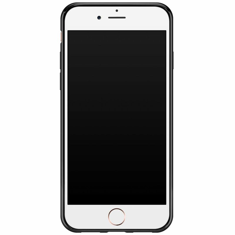 Casimoda iPhone 8/7 siliconen hoesje naam - Golden wildcat