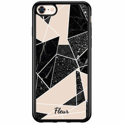 Casimoda iPhone 8/7 siliconen hoesje naam - Abstract painted