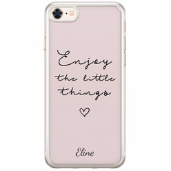 iPhone 8/7 siliconen hoesje naam - Enjoy life