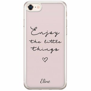 Casimoda iPhone 8/7 siliconen hoesje naam - Enjoy life