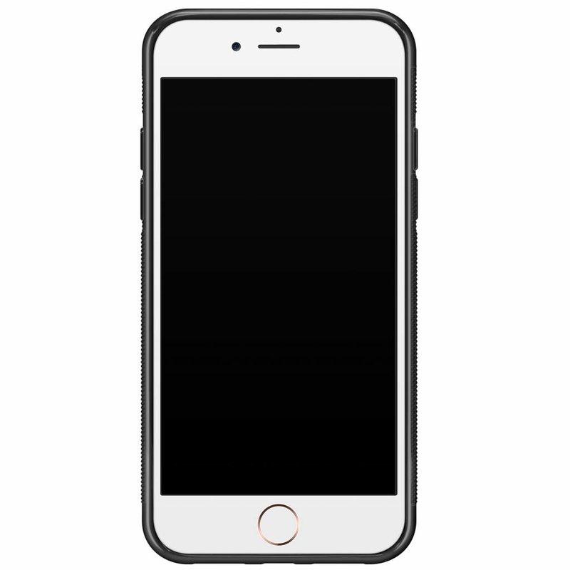 Casimoda iPhone 8/7 hardcase hoesje naam - Marmer zwart goud