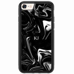 iPhone 8/7 hardcase hoesje naam - Drama marble