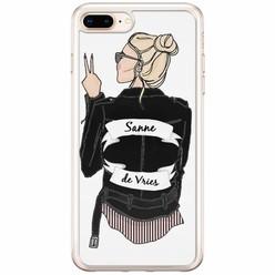 Casimoda iPhone 8 Plus / 7 Plus siliconen hoesje naam - Badass babe blondine