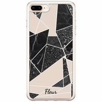 Casimoda iPhone 8 Plus / 7 Plus siliconen hoesje naam - Abstract painted