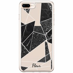 iPhone 8 Plus / 7 Plus siliconen hoesje naam - Abstract painted