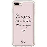 Casimoda iPhone 8 Plus / 7 Plus siliconen hoesje naam - Enjoy life