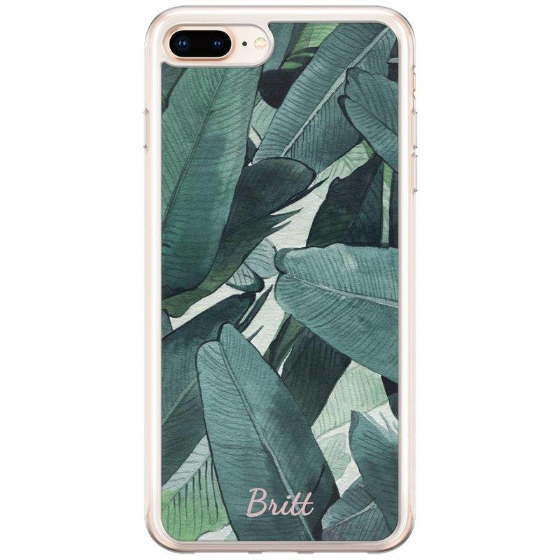 Casimoda iPhone 8 Plus / 7 Plus siliconen hoesje naam - Jungle