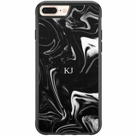 Casimoda iPhone 8 Plus / 7 Plus hardcase hoesje naam - Drama marble
