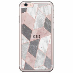 iPhone 6/6s siliconen hoesje naam - Stone grid