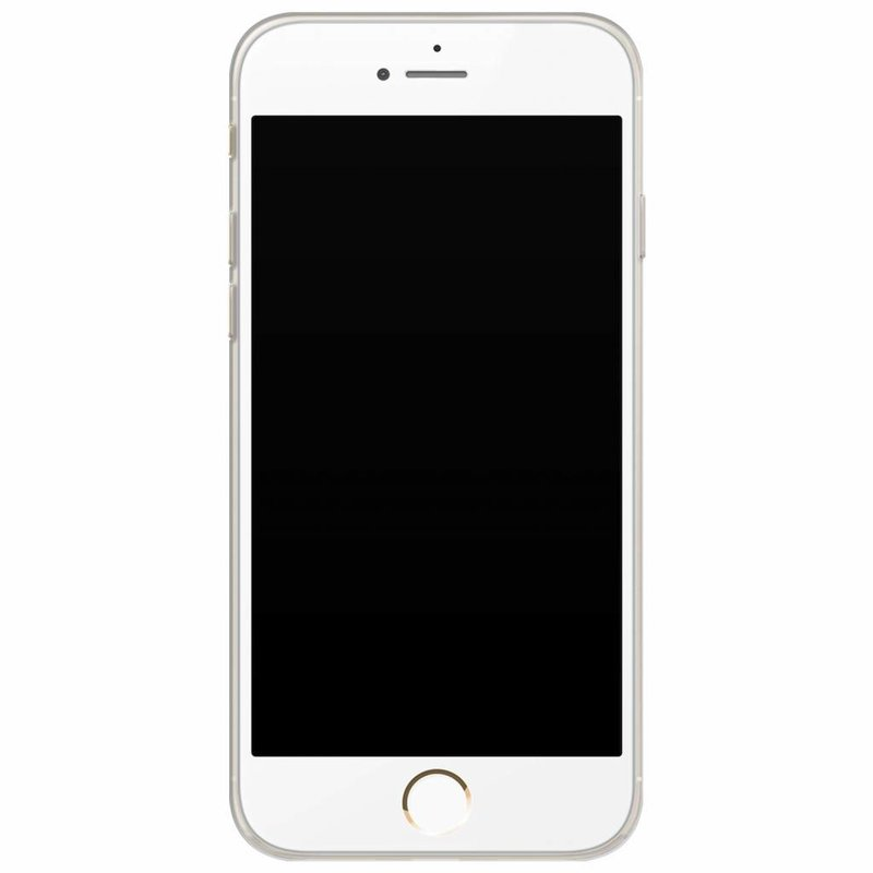Casimoda iPhone 6/6s siliconen hoesje naam - Stone grid