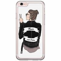 Casimoda iPhone 6/6s siliconen hoesje naam - Badass babe brunette