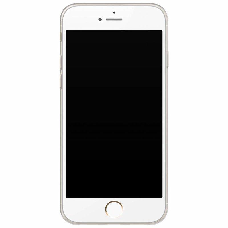 Casimoda iPhone 6/6s siliconen hoesje naam - Luipaard grijs