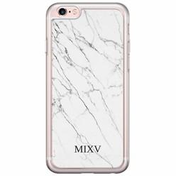 iPhone 6/6s siliconen hoesje naam - Marmer grijs