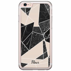 iPhone 6/6s siliconen hoesje naam - Abstract painted