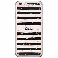 Casimoda iPhone 6/6s siliconen hoesje naam - Hart streepjes