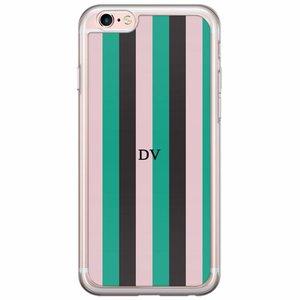 iPhone 6/6s siliconen hoesje naam - Stripe vibe