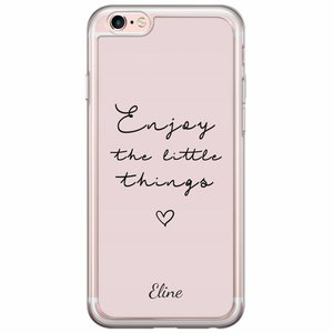 iPhone 6/6s siliconen hoesje naam - Enjoy life