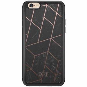 iPhone 6/6s hardcase hoesje naam - Marble grid