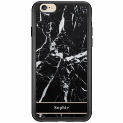 iPhone 6/6s hardcase hoesje naam - Marmer zwart
