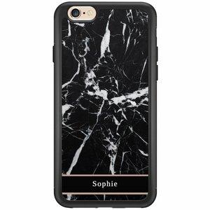 Casimoda iPhone 6/6s hardcase hoesje naam - Marmer zwart