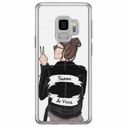 Samsung Galaxy S9 siliconen hoesje naam - Badass babe brunette
