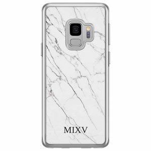 Casimoda Samsung Galaxy S9 siliconen hoesje naam - Marmer grijs