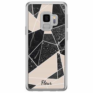 Casimoda Samsung Galaxy S9 siliconen hoesje naam - Abstract painted