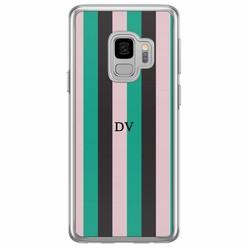 Casimoda Samsung Galaxy S9 siliconen hoesje naam - Stripe vibe