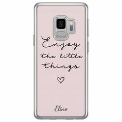 Casimoda Samsung Galaxy S9 siliconen hoesje naam - Enjoy life