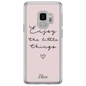 Samsung Galaxy S9 siliconen hoesje naam - Enjoy life