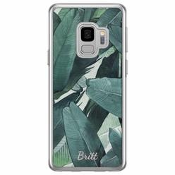 Casimoda Samsung Galaxy S9 siliconen hoesje naam - Jungle