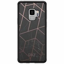 Samsung Galaxy S9 hardcase hoesje naam - Marble grid