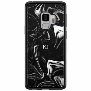 Samsung Galaxy S9 hardcase hoesje naam - Drama marble