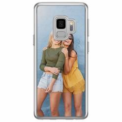 Casimoda Samsung Galaxy S9 siliconen zwart - Softcase met foto