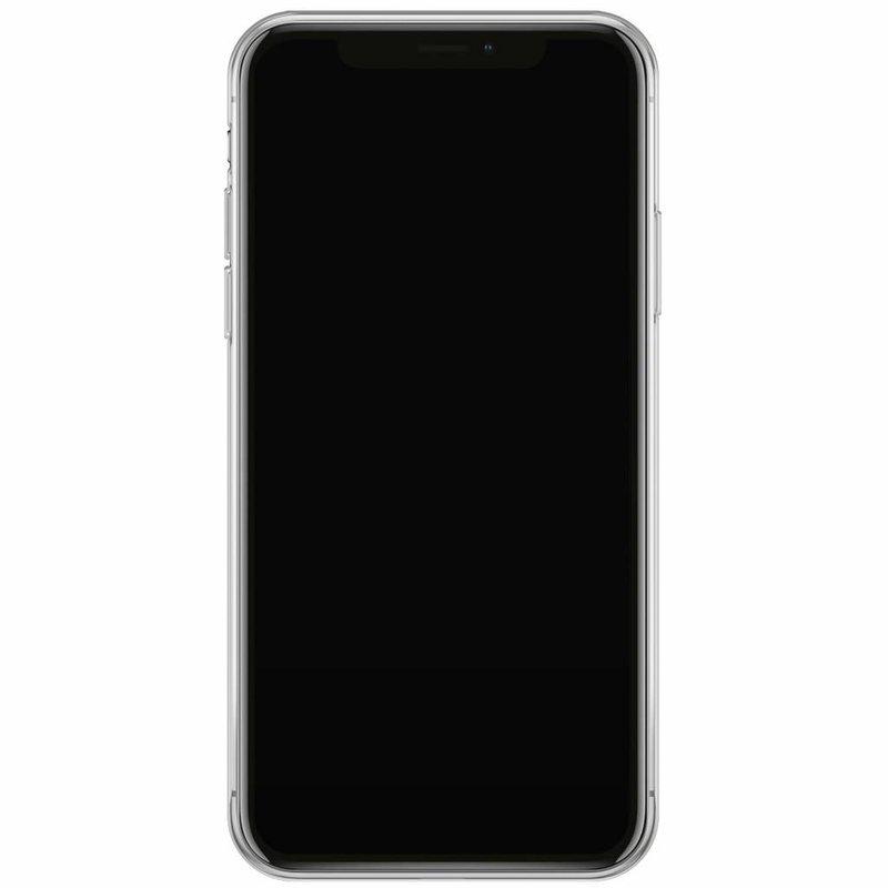 iPhone XS Max siliconen hoesje naam - Marmer grijs