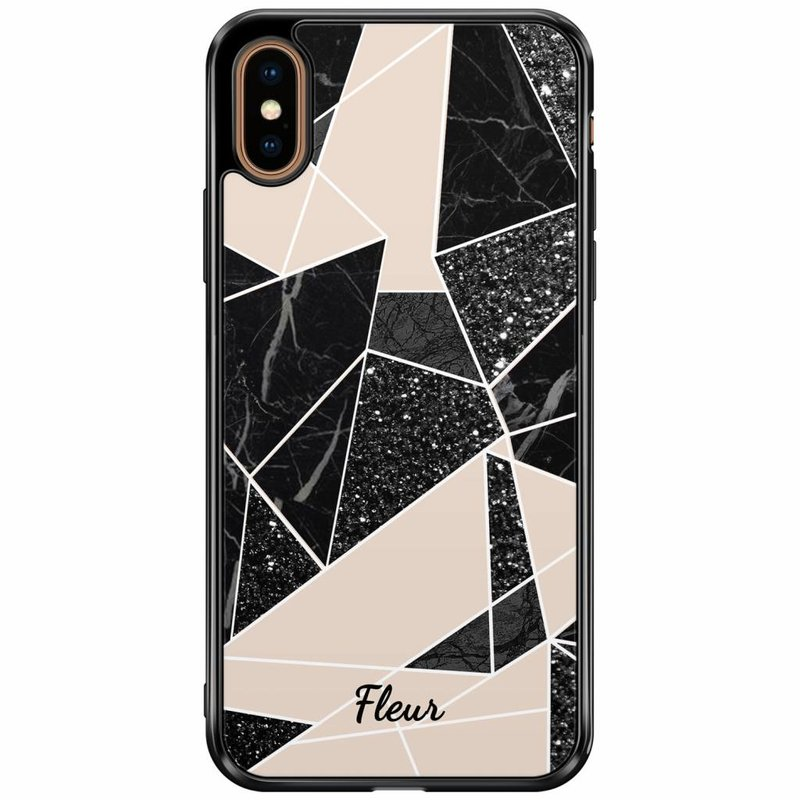 Casimoda iPhone XS Max siliconen hoesje naam - Abstract painted