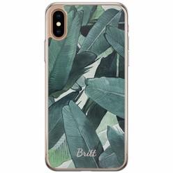 iPhone XS Max siliconen hoesje naam - Jungle
