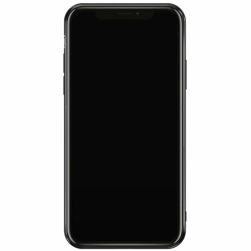 Casimoda iPhone XS Max siliconen hoesje naam - Marmer zwart goud
