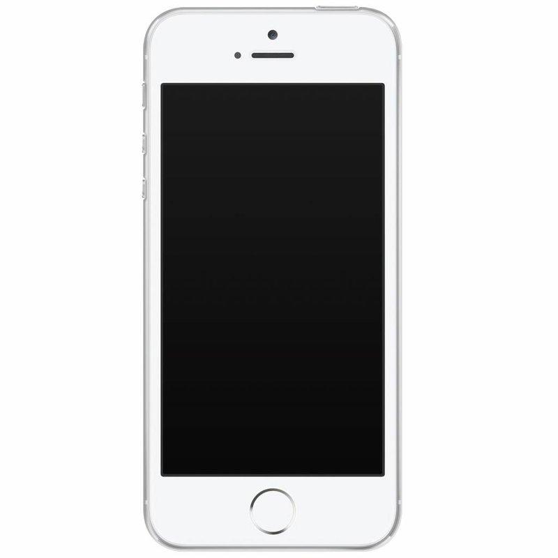 iPhone 5/5S/SE siliconen hoesje naam - Parelmoer marmer