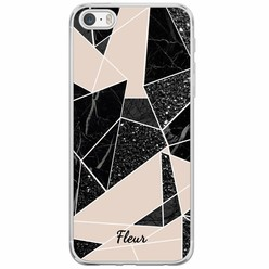 iPhone 5/5S/SE siliconen hoesje naam - Abstract painted