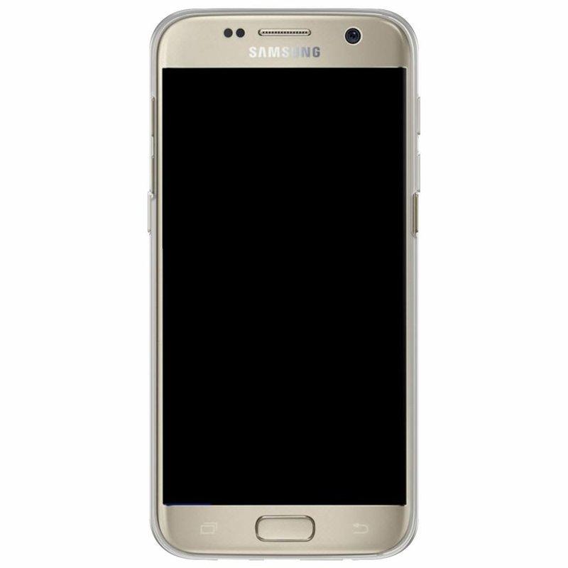 Casimoda Samsung Galaxy S7 siliconen hoesje naam - Parelmoer marmer