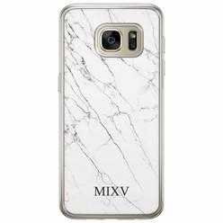 Samsung Galaxy S7 siliconen hoesje naam - Marmer grijs