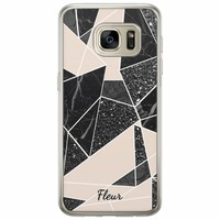 Casimoda Samsung Galaxy S7 siliconen hoesje naam - Abstract painted