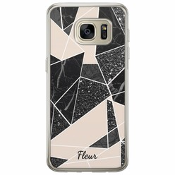Samsung Galaxy S7 siliconen hoesje naam - Abstract painted